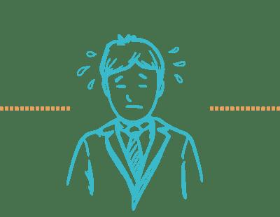 Illustration Coach in resignierender Haltung