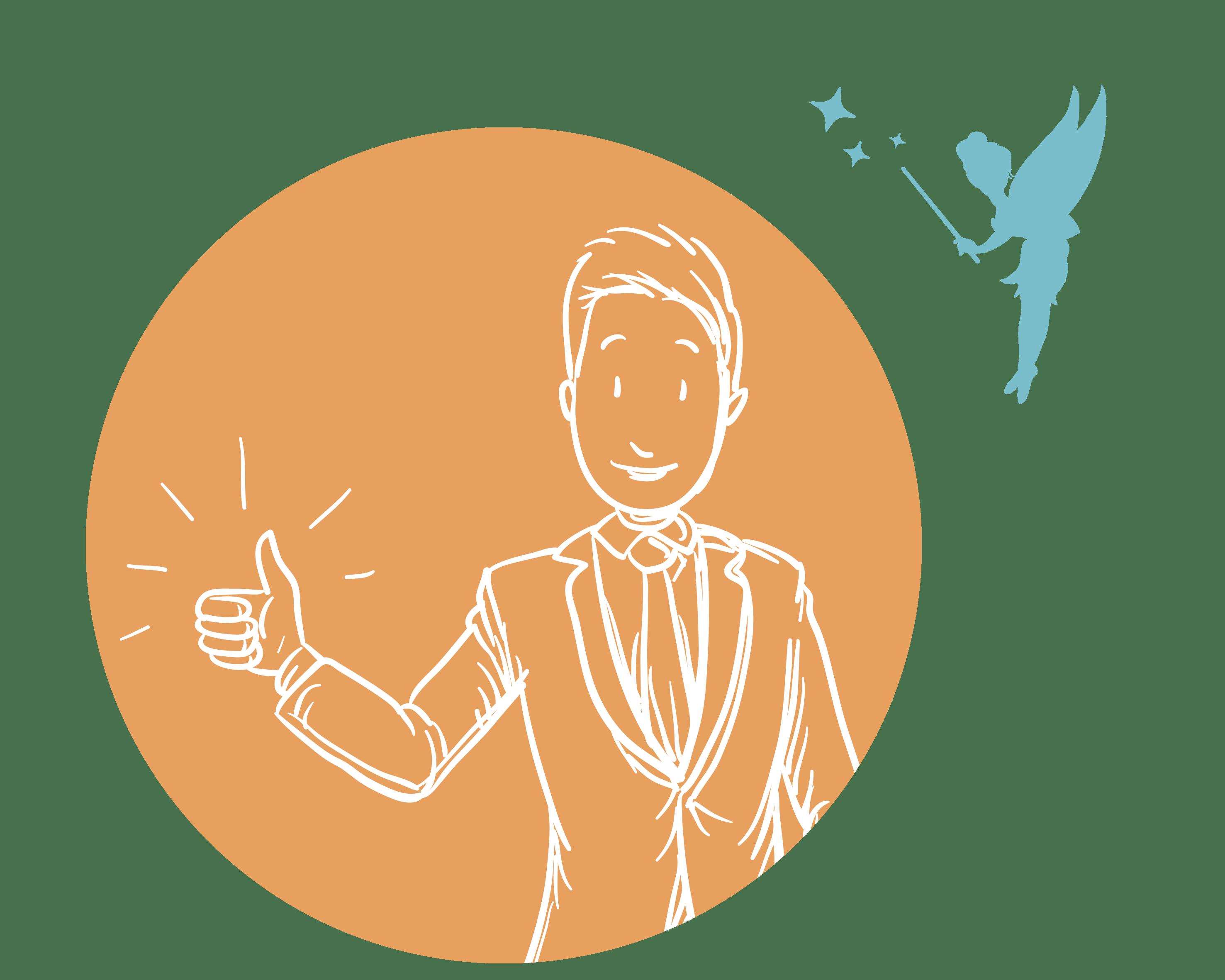 Illustration positive Coach mit Careoline